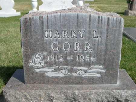 GORR, HARRY L. - Dawes County, Nebraska   HARRY L. GORR - Nebraska Gravestone Photos
