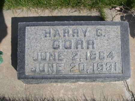 GORR, HARRY C. - Dawes County, Nebraska | HARRY C. GORR - Nebraska Gravestone Photos