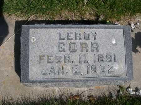 GORR, LEROY - Dawes County, Nebraska | LEROY GORR - Nebraska Gravestone Photos