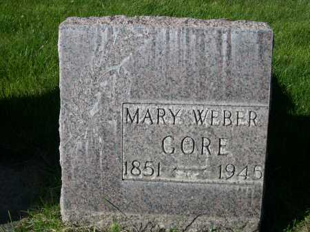 GORE, MARY WEBER - Dawes County, Nebraska | MARY WEBER GORE - Nebraska Gravestone Photos