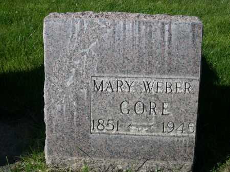 WEBER GORE, MARY - Dawes County, Nebraska | MARY WEBER GORE - Nebraska Gravestone Photos