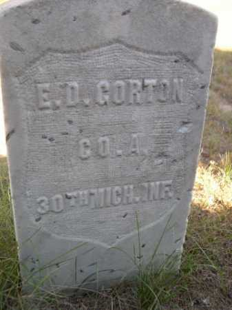 GORTON, E. D. - Dawes County, Nebraska | E. D. GORTON - Nebraska Gravestone Photos
