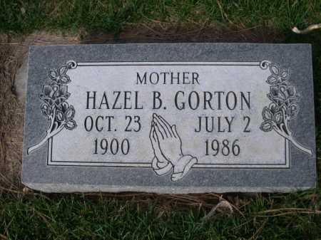 GORTON, HAZEL B. - Dawes County, Nebraska | HAZEL B. GORTON - Nebraska Gravestone Photos