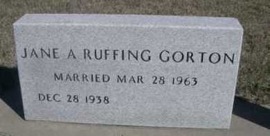 GORTON, JANE A. - Dawes County, Nebraska | JANE A. GORTON - Nebraska Gravestone Photos