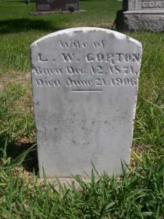 GORTON, WIFE OF L.W. - Dawes County, Nebraska | WIFE OF L.W. GORTON - Nebraska Gravestone Photos