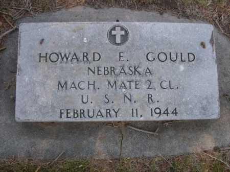 GOULD, HOWARD E. - Dawes County, Nebraska   HOWARD E. GOULD - Nebraska Gravestone Photos