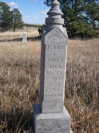 GOULD, JENNIE L. - Dawes County, Nebraska | JENNIE L. GOULD - Nebraska Gravestone Photos