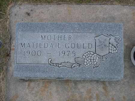 GOULD, MATILDA L. - Dawes County, Nebraska | MATILDA L. GOULD - Nebraska Gravestone Photos