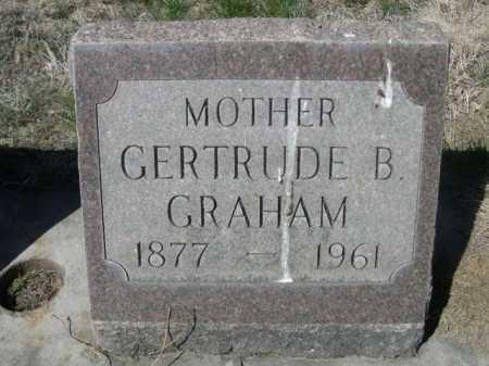 GRAHAM, GERTRUDE B. - Dawes County, Nebraska | GERTRUDE B. GRAHAM - Nebraska Gravestone Photos