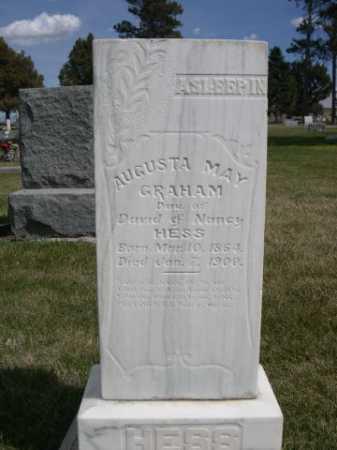 HESS GRAHAM, AUGUSTA MAY - Dawes County, Nebraska | AUGUSTA MAY HESS GRAHAM - Nebraska Gravestone Photos