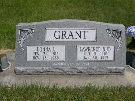 GRANT, LAWRENCE BUD - Dawes County, Nebraska | LAWRENCE BUD GRANT - Nebraska Gravestone Photos