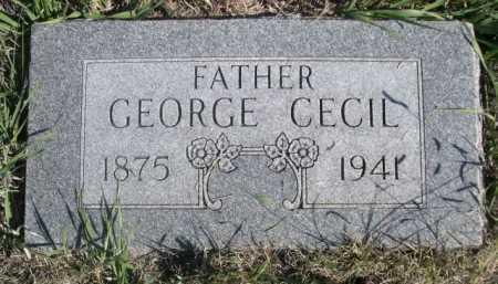 GRANT, GEORGE CECIL - Dawes County, Nebraska   GEORGE CECIL GRANT - Nebraska Gravestone Photos