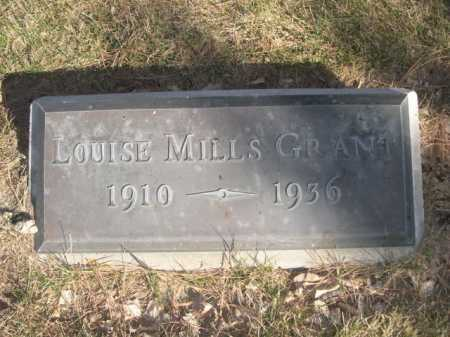 GRANT, LOUISE MILLS - Dawes County, Nebraska | LOUISE MILLS GRANT - Nebraska Gravestone Photos