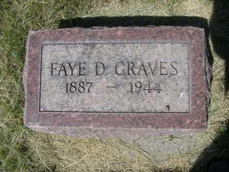 GRAVES, FAYE D. - Dawes County, Nebraska   FAYE D. GRAVES - Nebraska Gravestone Photos