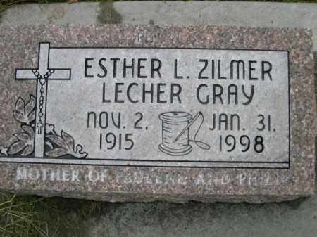 GRAY, ESTER L. ZILMER LECHER - Dawes County, Nebraska   ESTER L. ZILMER LECHER GRAY - Nebraska Gravestone Photos