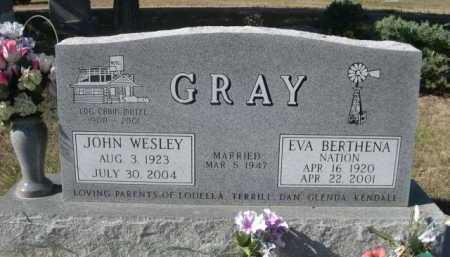 NATION GRAY, EVA BERTHENA - Dawes County, Nebraska | EVA BERTHENA NATION GRAY - Nebraska Gravestone Photos