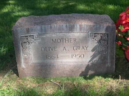 GRAY, OLIVE A. - Dawes County, Nebraska | OLIVE A. GRAY - Nebraska Gravestone Photos