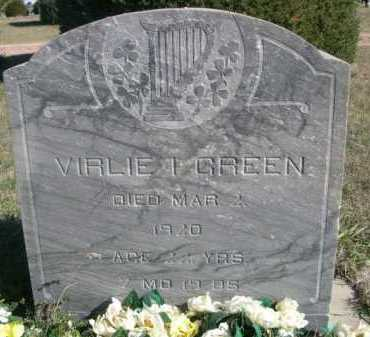 GREEN, VIRLIE I. - Dawes County, Nebraska | VIRLIE I. GREEN - Nebraska Gravestone Photos