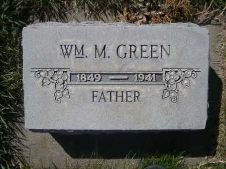 GREEN, WM. M. - Dawes County, Nebraska | WM. M. GREEN - Nebraska Gravestone Photos
