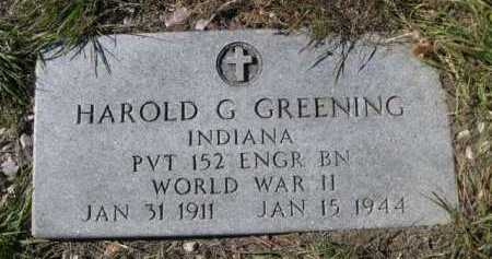 GREENING, HAROLD G. - Dawes County, Nebraska | HAROLD G. GREENING - Nebraska Gravestone Photos