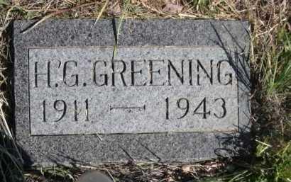 GREENING, H. G. - Dawes County, Nebraska | H. G. GREENING - Nebraska Gravestone Photos