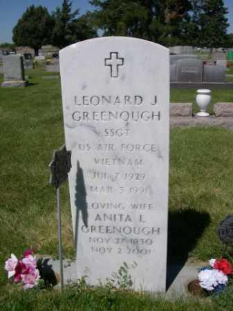 GREENOUGH, LEONARD J. - Dawes County, Nebraska | LEONARD J. GREENOUGH - Nebraska Gravestone Photos