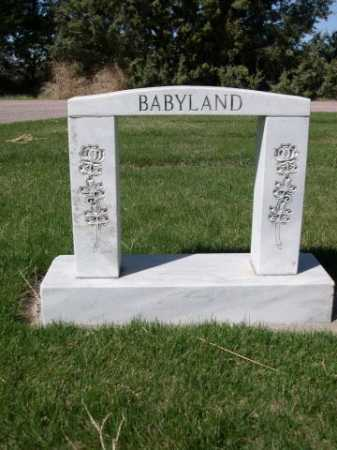*GREENWOOD CEMETERY, VIEW OF BABYLAND - Dawes County, Nebraska | VIEW OF BABYLAND *GREENWOOD CEMETERY - Nebraska Gravestone Photos