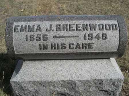 GREENWOOD, EMMA J. - Dawes County, Nebraska   EMMA J. GREENWOOD - Nebraska Gravestone Photos