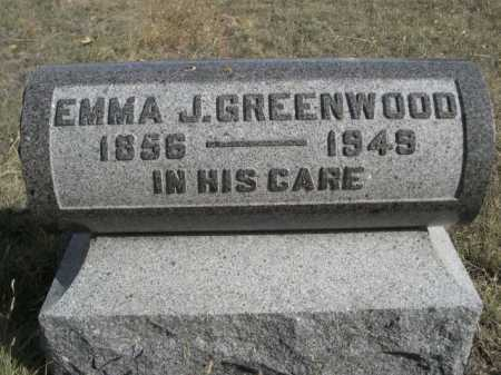 GREENWOOD, EMMA J. - Dawes County, Nebraska | EMMA J. GREENWOOD - Nebraska Gravestone Photos