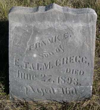 GREGG, FRANK E. - Dawes County, Nebraska   FRANK E. GREGG - Nebraska Gravestone Photos