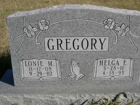 GREGORY, LONIE M. - Dawes County, Nebraska | LONIE M. GREGORY - Nebraska Gravestone Photos