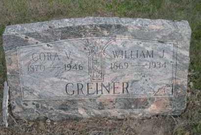 GREINER, WILLIAM J. - Dawes County, Nebraska | WILLIAM J. GREINER - Nebraska Gravestone Photos