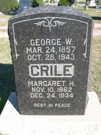 CRILE, GEORGE WASHINGTON. - Dawes County, Nebraska | GEORGE WASHINGTON. CRILE - Nebraska Gravestone Photos