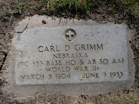 GRIMM, CARL D. - Dawes County, Nebraska   CARL D. GRIMM - Nebraska Gravestone Photos