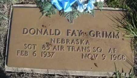 GRIMM, DONALD FAY - Dawes County, Nebraska | DONALD FAY GRIMM - Nebraska Gravestone Photos