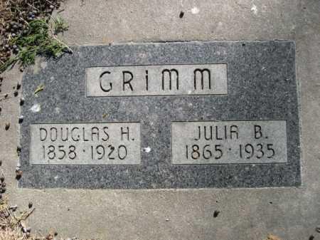 GRIMM, DOUGLAS H. - Dawes County, Nebraska | DOUGLAS H. GRIMM - Nebraska Gravestone Photos
