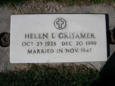 GRISAMER, HELEN L. - Dawes County, Nebraska   HELEN L. GRISAMER - Nebraska Gravestone Photos