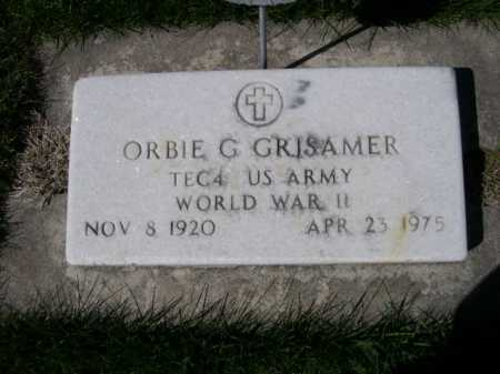 GRISAMER, ORBIE G - Dawes County, Nebraska | ORBIE G GRISAMER - Nebraska Gravestone Photos