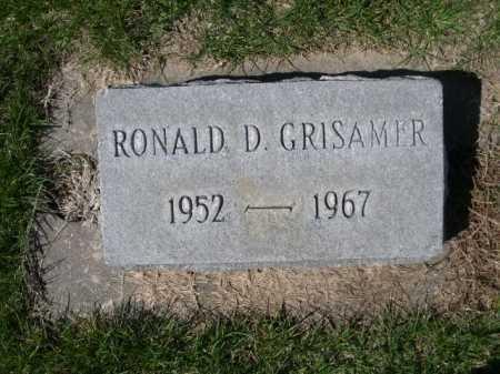 GRISAMER, RONALD D. - Dawes County, Nebraska   RONALD D. GRISAMER - Nebraska Gravestone Photos
