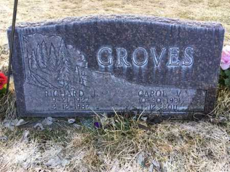 GROVES, CAROL V. - Dawes County, Nebraska   CAROL V. GROVES - Nebraska Gravestone Photos