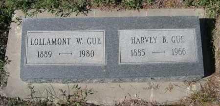 GUE HARVEY B.,  - Dawes County, Nebraska    GUE HARVEY B. - Nebraska Gravestone Photos