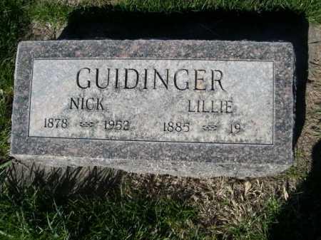 GUIDINGER, NICK - Dawes County, Nebraska | NICK GUIDINGER - Nebraska Gravestone Photos