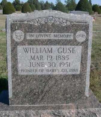 GUSE, WILLIAM - Dawes County, Nebraska | WILLIAM GUSE - Nebraska Gravestone Photos
