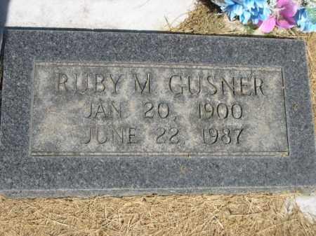 GUSNER, RUBY M. - Dawes County, Nebraska   RUBY M. GUSNER - Nebraska Gravestone Photos
