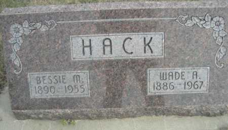 HACK, BESSIE M. - Dawes County, Nebraska | BESSIE M. HACK - Nebraska Gravestone Photos