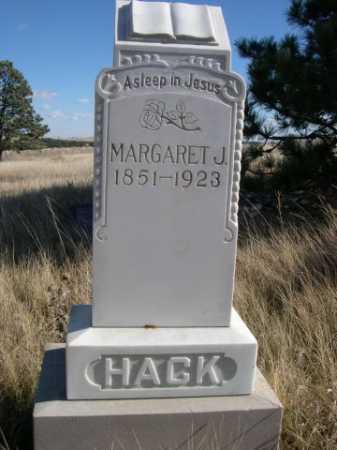 HACK, MARGARET J. - Dawes County, Nebraska | MARGARET J. HACK - Nebraska Gravestone Photos