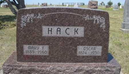 HACK, MARY F. - Dawes County, Nebraska | MARY F. HACK - Nebraska Gravestone Photos
