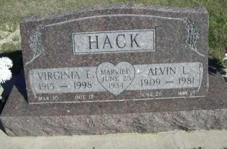 HACK, VIRGINIA E. - Dawes County, Nebraska | VIRGINIA E. HACK - Nebraska Gravestone Photos