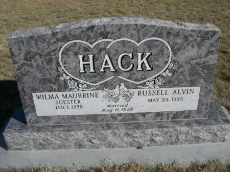 HACK, WILMA MAURRINE - Dawes County, Nebraska | WILMA MAURRINE HACK - Nebraska Gravestone Photos