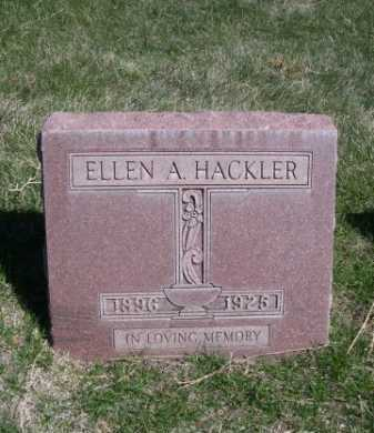 HACKLER, ELLEN A. - Dawes County, Nebraska | ELLEN A. HACKLER - Nebraska Gravestone Photos